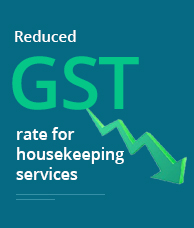 Reduced GST rate for housekeeping services